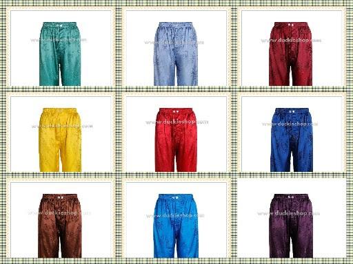 กางเกงแพรจีนแท้รุ่นเอวยาง (ภาพด้านหน้า)