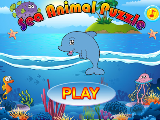Sea Animals Puzzle Vocabulary - screenshot