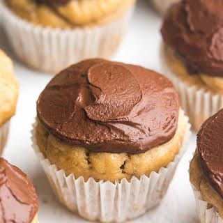 Mini Dark Chocolate Banana Cupcakes.
