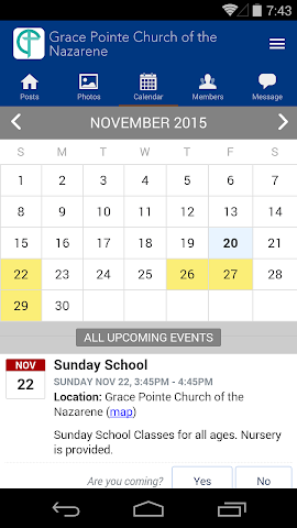 android Grace Pointe Church Nazarene Screenshot 2