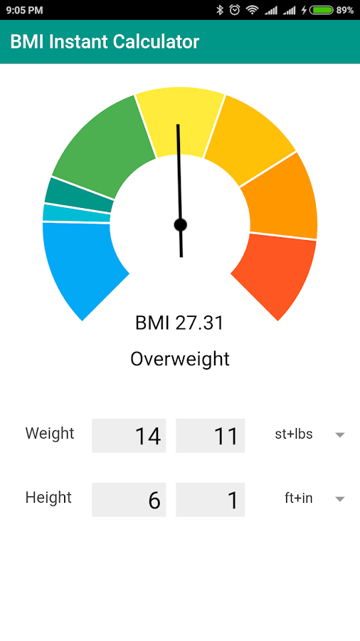 BMI Instant Calculator- screenshot