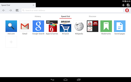 Opera browser for Android beta Screenshot 1