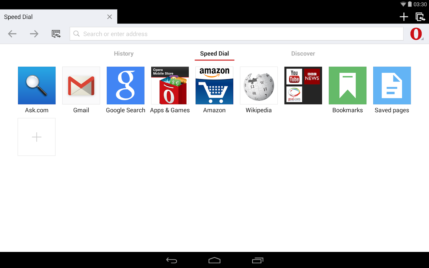 Opera browser for Android beta- screenshot