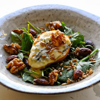 Salad of Pear and Gorgonzola, Rye Berries and Lemon-Roasted Nuts Recipe