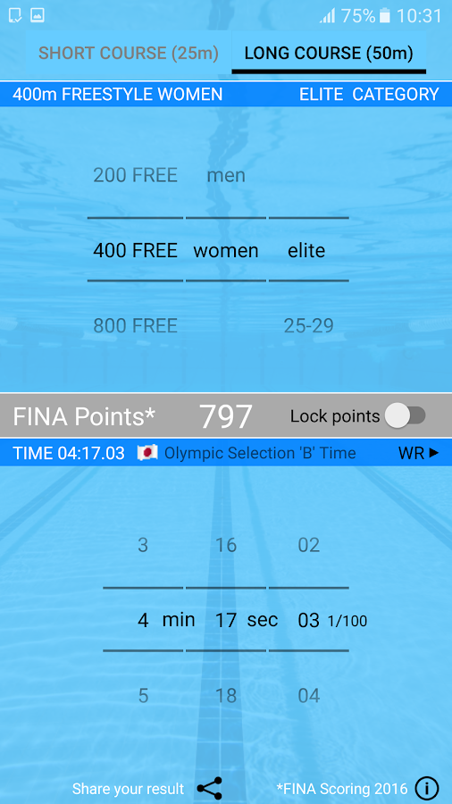 Swim Points: Elite and Masters- screenshot