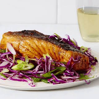 Spiced Salmon with Sweet 'n' Tangy Slaw.