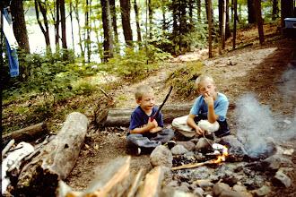 Photo: Josh & Ryan playing in the fire.