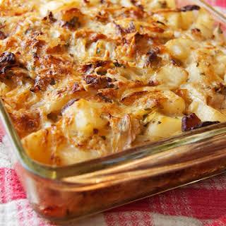 Polish Cabbage, Potato, and Bacon Casserole.
