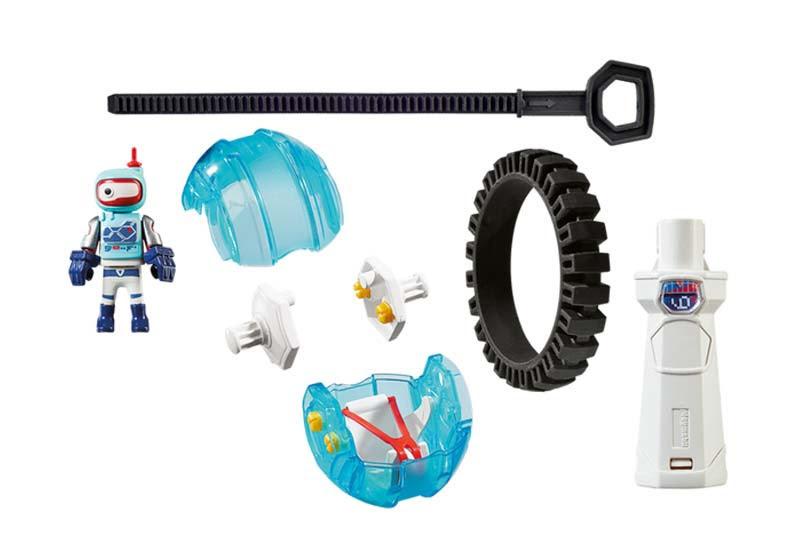 Contenido real de Playmobil® 9204 Speed Roller Azul
