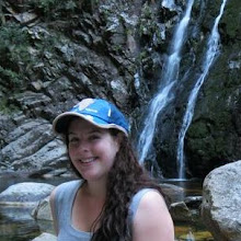 Photo: Me chilling at a mini waterfall while on honeymoon