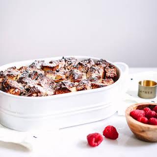 Cinnamon Challah French Toast Casserole.