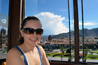 Photo: Taking a break, walking in Cusco is tough work!
