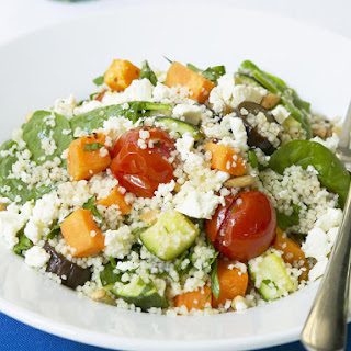 Vegetable and Feta Couscous.