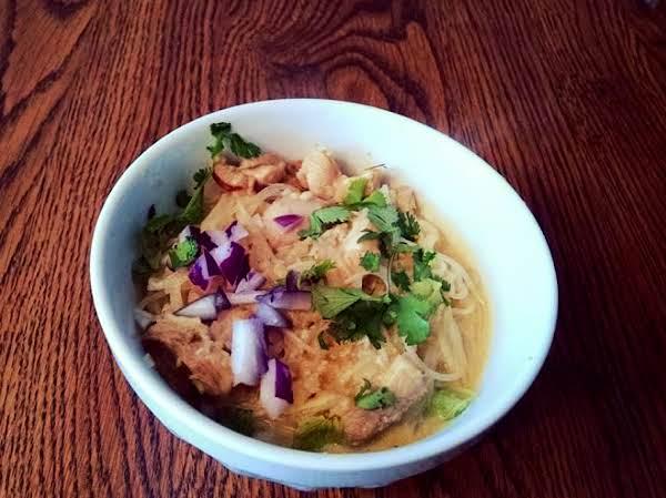Burmese Noodle Bowl Aka Fork And Spoon Soup