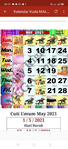 Kalendar Kuda Malaysia - 2021 ss2