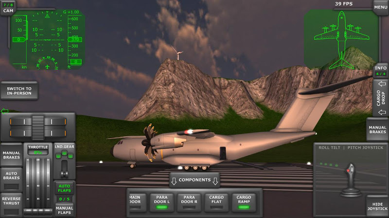 Turboprop Flight Simulator 3D Screenshot 1