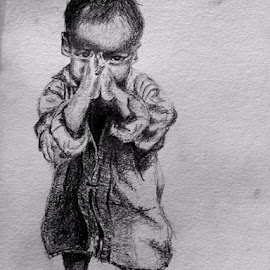 child by Samriddhi Dutta - Drawing All Drawing ( charcoal, sketch, drawing )