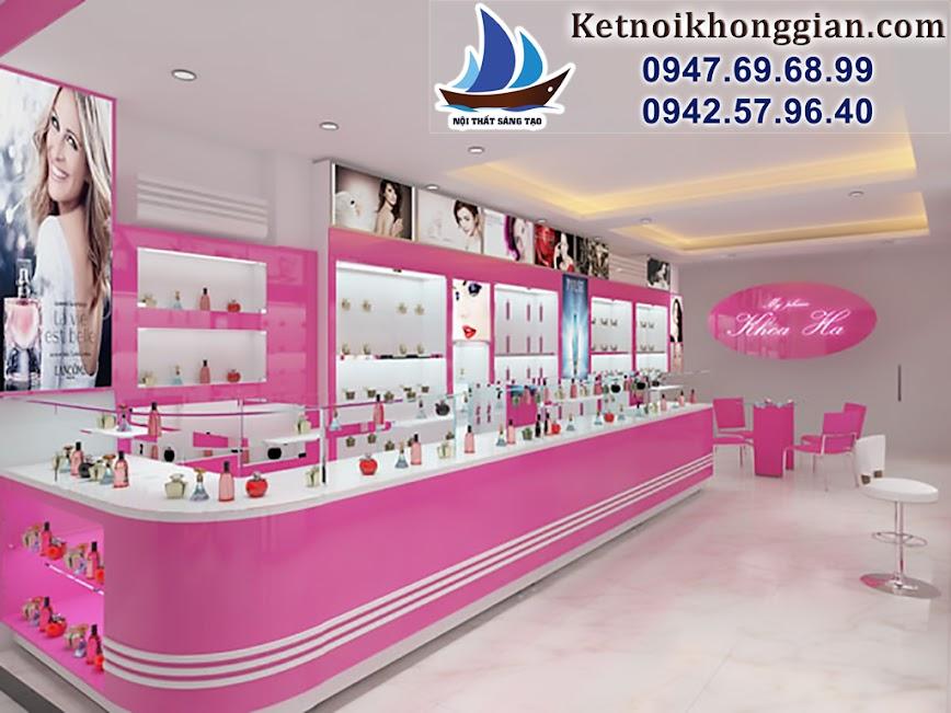thiết kế shop mỹ phẩm chuyên nghiệp, thiết kế cửa hàng mỹ phẩm