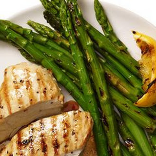 Grilled Lemon Chicken and Asparagus.