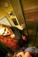 Photo: Hotel also had pokey little elevator. Sign said it could hold three people. Maybe if we were standing on the third.