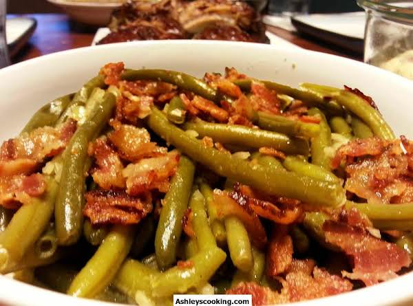 Peppered Bacon Is My Favorite Type Of Bacon. I Love The Smokey Flavor With The Spice Of The Peppercorns. This Is A Tried And True Recipe. Always A Hit, And Easy To Make. Frozen Or Canned Green Beans Can Be Used. I Have Even Used Fresh Before, Just Make Su