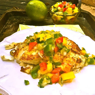Grilled Grouper and Mango Salsa.