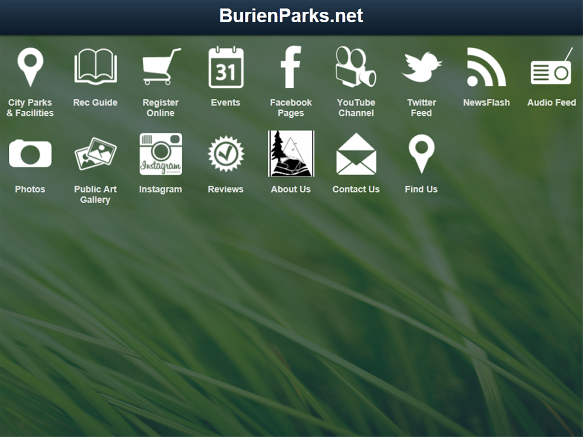 BurienParks.net- screenshot
