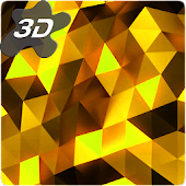 Parallax  Golden Crystal Edge 3D Live Wallpaper