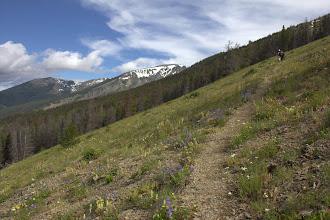 Photo: Dash and Elizabeth on the trail to Elk Mounatin, Glacier National Park