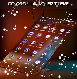 Colorful Launcher Theme - náhled