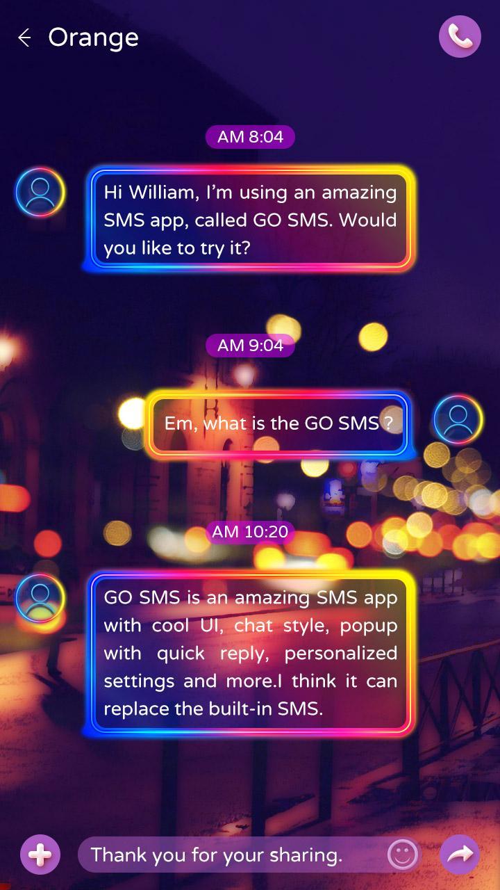 Скриншот GO SMS DREAM PARIS THEME