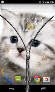 Download Transparent Zipper Screen Lock APK