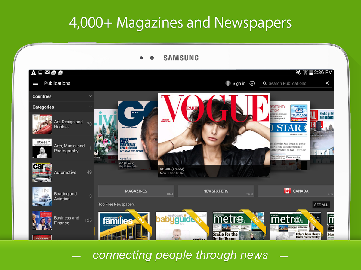 PressReader- screenshot