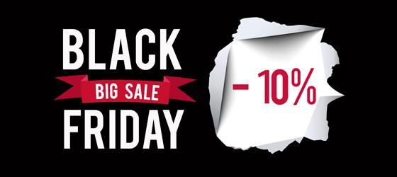 - 10% Black Friday