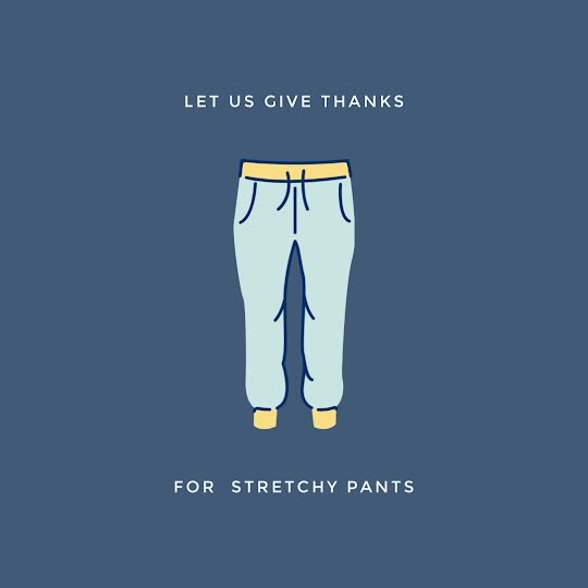 Thanks for Stretchy Pants - Thanksgiving Template