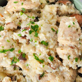 Low Carb Cauliflower Chicken Casserole
