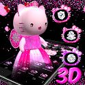 3D Cute Kitty Queen Theme 😻 icon