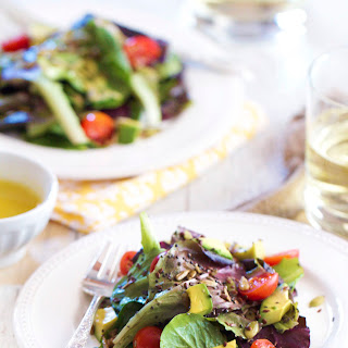 SuperSeed Green Salad with Honey Lemon Vinaigrette
