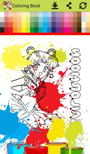 Princess anime Coloring Books for Kids Free Games 1.0 screenshots 6