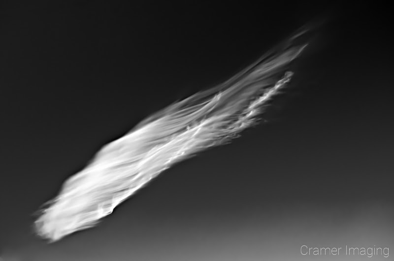 Professional quality fine art photograph of an abstract black and white cloud by Cramer Imaging
