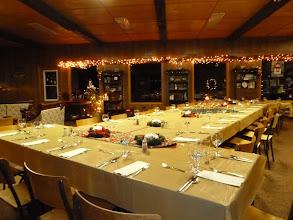 Photo: Christmas set up 26-28 guests