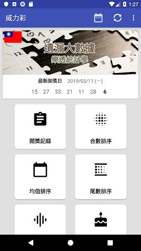 威力彩 - 遺漏大數據 screenshot 1