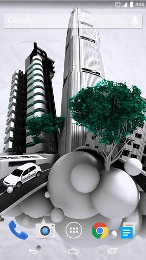 Bubble City 3D Live Wallpaper