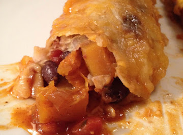 Butternut Squash And Black Bean Enchiladas Recipe