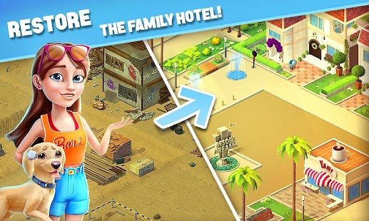 ApkMod1.Com Resort Hotel: Bay Story + (Life/Gold Coin/Key) for Android Game Puzzle