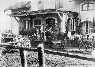 Photo: Mejeriet 1915. Wasselhyttans Mejeriförening var i bruk mellan åren 1909-1939