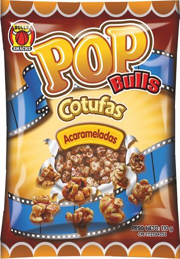 snack cotufa pop bulls acaramelada 110gr