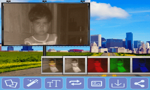 Building Hoarding Photo Frames