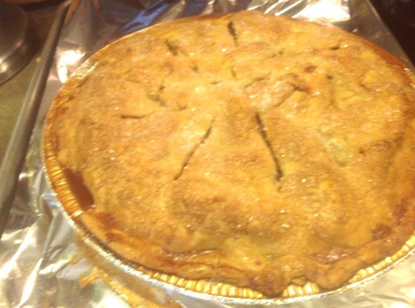 Now line a shallow baking pan with aluminum foil and place pie in pan...