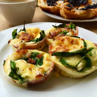 Scrumptious Egg And Bacon Cupcake Omelette.